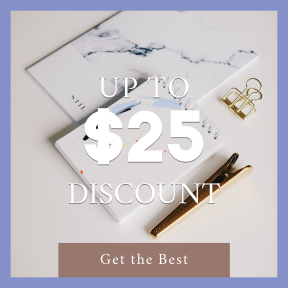 Image design template for sales - #banner #businnes #sales #CallToAction #salesbanner #gold #marble #clip #spiral #notebook #paper #desk #consulting
