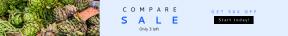 Leaderboard web banner template for sales - #banner #businnes #sales #CallToAction #salesbanner #market #vegetable #close #farmers #price #label #artichoke #crate #drink #stall