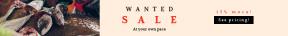 Leaderboard web banner template for sales - #banner #businnes #sales #CallToAction #salesbanner #coin #fish #seychelles #money #market