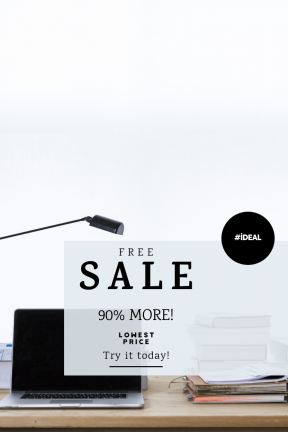Portrait design template for sales - #banner #businnes #sales #CallToAction #salesbanner #research #black #screen #interface #circles