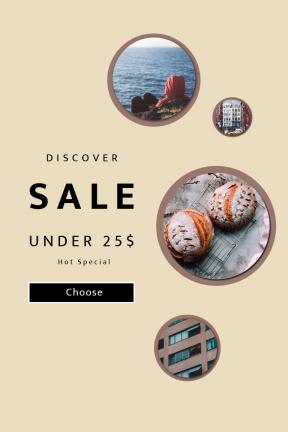 Portrait design template for sales - #banner #businnes #sales #CallToAction #salesbanner #modern #city #kitchen #calm #horizon #dannyfeng #lifestyle #landscape