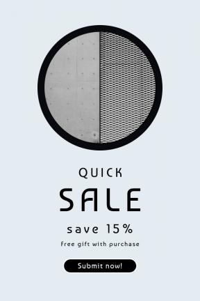 Portrait design template for sales - #banner #businnes #sales #CallToAction #salesbanner #geometric #industrial #symbol #black #shapes #concrete #shape #pattern