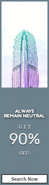 Skyscraper wide web banner template for sales - #banner #businnes #sales #CallToAction #salesbanner #magentum #glass #urban #purple #architecture #bright #green #gradient #colour #cyan