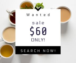 Square large web banner template for sales - #banner #businnes #sales #CallToAction #salesbanner #white #tea #breakfast #lemon #english #food #cream #ice #wallpaper