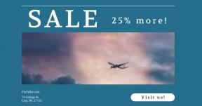 Card design template for sales - #banner #businnes #sales #CallToAction #salesbanner #airplane #vacation #symbol #blue #shape #mood #virgin #pink