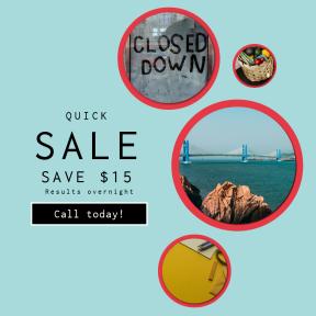 Image design template for sales - #banner #businnes #sales #CallToAction #salesbanner #square #desk #life #work #harbor #pencil