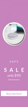 Skyscraper wide web banner template for sales - #banner #businnes #sales #CallToAction #salesbanner #shape #circular #electronic #technology #geometric #shapes #black #essentials #design #circle