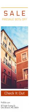 Skyscraper wide web banner template for sales - #banner #businnes #sales #CallToAction #salesbanner #up #living #looking #apartment #mediterranean #urban