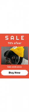 Skyscraper wide web banner template for sales - #banner #businnes #sales #CallToAction #salesbanner #rectangle #fashion #style #clothes #hat #tuque #sticker #puppy #pug #shapes