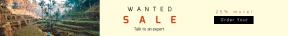Leaderboard web banner template for sales - #banner #businnes #sales #CallToAction #salesbanner #landscape #palmtree #terrace #farm #backpacker #beautiful #palm