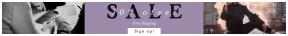 Leaderboard web banner template for sales - #banner #businnes #sales #CallToAction #salesbanner #female #smoke #financial #sunglasses #pose