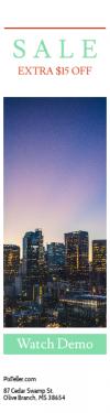 Skyscraper wide web banner template for sales - #banner #businnes #sales #CallToAction #salesbanner #californium #sunset #lights #night #sunrise #dark