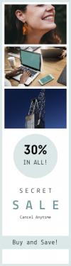 Skyscraper wide web banner template for sales - #banner #businnes #sales #CallToAction #salesbanner #engineering #strategy #typing #dentist #desktop #beverage #close #female #minimalism #portrait