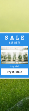 Skyscraper wide web banner template for sales - #banner #businnes #sales #CallToAction #salesbanner #fresh #lab #experiment #ecosystem #atmosphere #science #grass #controlled #green #botanical