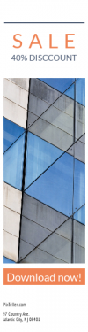 Skyscraper wide web banner template for sales - #banner #businnes #sales #CallToAction #salesbanner #blue #information #computer #abstract #construction #reflection #drawing #futuristic