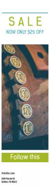 Skyscraper wide web banner template for sales - #banner #businnes #sales #CallToAction #salesbanner #sale #30 #number #math #till #button #oxide #rusty #vintage #old