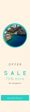 Skyscraper wide web banner template for sales - #banner #businnes #sales #CallToAction #salesbanner #circle #spring #circular #cliff #view #snow