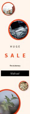 Skyscraper wide web banner template for sales - #banner #businnes #sales #CallToAction #salesbanner #metropolitan #late #area #home #blur