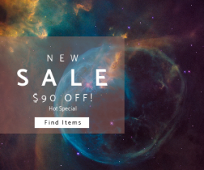 Square large web banner template for sales - #banner #businnes #sales #CallToAction #salesbanner #nebula #background #space #star #night #sky #astronomy #wallpapers