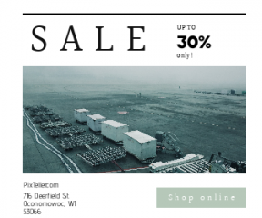 Square large web banner template for sales - #banner #businnes #sales #CallToAction #salesbanner #logistic #aviation #exterior #plane #foggy #travel
