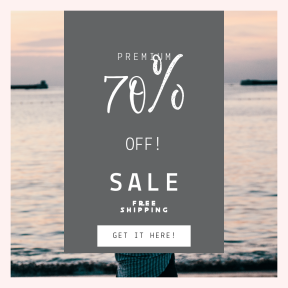 Image design template for sales - #banner #businnes #sales #CallToAction #salesbanner #bokeh #woman #summer #shoreline #sunrise #looking #business #sun #canon