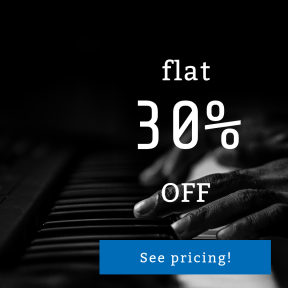 Image design template for sales - #banner #businnes #sales #CallToAction #salesbanner #playing #keys #bokeh #blur #monochrome #piano #book #hand #and