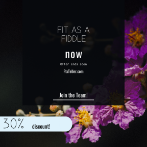 Image design template for sales - #banner #businnes #sales #CallToAction #salesbanner #geometry #flowering #circle #shapes #purple #spring #plant