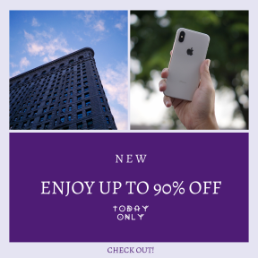 Image design template for sales - #banner #businnes #sales #CallToAction #salesbanner #new #blue #city #building #sky #phone #nyc #smartphone #classroom #york