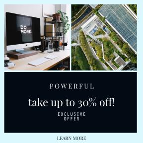 "Image design template for sales - #banner #businnes #sales #CallToAction #salesbanner #software #multimedia #green #""do #imac #professional"
