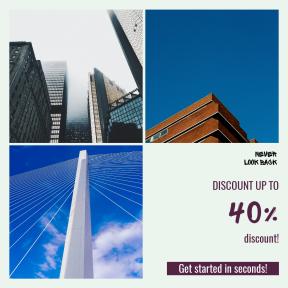 Image design template for sales - #banner #businnes #sales #CallToAction #salesbanner #structure #spoke #rise #blue #column #bridge #building #facade #pillar