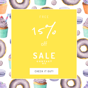 Image design template for sales - #banner #businnes #sales #CallToAction #salesbanner #cupcake #icing #dessert #baking #buttercream #food