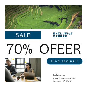 Image design template for sales - #banner #businnes #sales #CallToAction #salesbanner #circle #grass #strategy #hill #vegetation #startup #reserve #field #staff #notebook