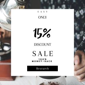 Image design template for sales - #banner #businnes #sales #CallToAction #salesbanner #pot #drink #black #cafe #refreshing #kettle #multimedia