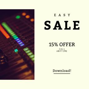 Image design template for sales - #banner #businnes #sales #CallToAction #salesbanner #audio #sound #engineer #blur #dj #red #mix #glow #green