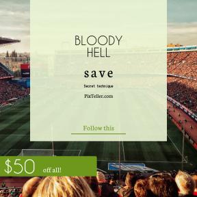 Image design template for sales - #banner #businnes #sales #CallToAction #salesbanner #soccer #sport #football #madrid #event #stadium #geometric #fans