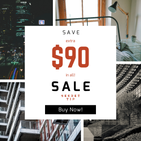 Image design template for sales - #banner #businnes #sales #CallToAction #salesbanner #girl #apartment #square #view #room #edificio #up #city #real