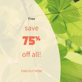 Image design template for sales - #banner #businnes #sales #CallToAction #salesbanner #leaf #sunlight #growth #summer #refresh #nature #green #tree #shadow