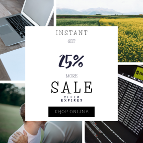 Image design template for sales - #banner #businnes #sales #CallToAction #salesbanner #green #job #woman #business #workspace #portable #smile #meadow #horizon