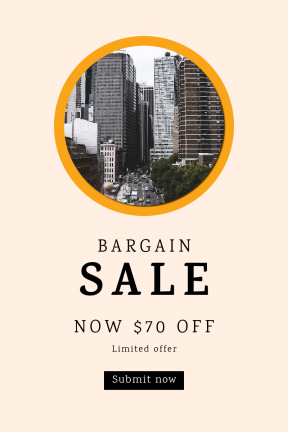 Portrait design template for sales - #banner #businnes #sales #CallToAction #salesbanner #black #shape #brooklyn #view #street #nyc #building #essentials #background
