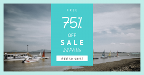 Card design template for sales - #banner #businnes #sales #CallToAction #salesbanner #board #mountain #geometric #filled #boat #fog #dinghy