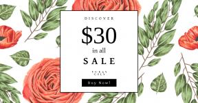 Card design template for sales - #banner #businnes #sales #CallToAction #salesbanner #floristry #flower #plant #flowers #arranging #design #rose #garden #pattern