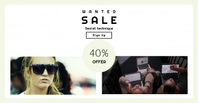 Card design template for sales - #banner #businnes #sales #CallToAction #salesbanner #girl #person #research #frown #quino #green #screen #sunglasses #female #people