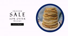 Card design template for sales - #banner #businnes #sales #CallToAction #salesbanner #lunch #girl #homemade #pancake #brunch #food #shape #stack #of