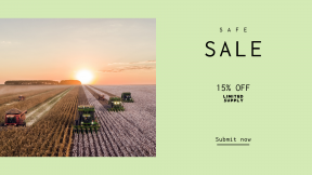 FullHD image template for sales - #banner #businnes #sales #CallToAction #salesbanner #nature #wildlife #tractor #vehicle #field #farming #landscape #outdoors #agriculture #sunrise