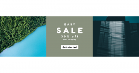 Card design template for sales - #banner #businnes #sales #CallToAction #salesbanner #drone #lake #BLUE #blue #shot #vegetation #computer #light #building