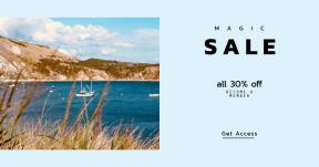 Card design template for sales - #banner #businnes #sales #CallToAction #salesbanner #coastal #daily #dorset #cliff #bread