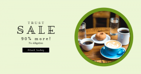 Card design template for sales - #banner #businnes #sales #CallToAction #salesbanner #teacup #pastry #cake #drink #interface #donut #relax #button #squares