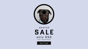 FullHD image template for sales - #banner #businnes #sales #CallToAction #salesbanner #credit #birthday #partner #black #background #pet #pug