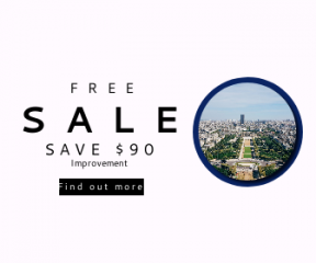 Square large web banner template for sales - #banner #businnes #sales #CallToAction #salesbanner #city #planning #aerial #view #building #roof #downtown #pari