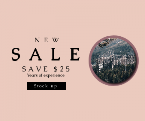 Square large web banner template for sales - #banner #businnes #sales #CallToAction #salesbanner #building #tree #castle #hotel #mountain #spring #landscape #snow #hill